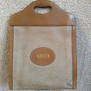Rare Vintage Gucci Shopper Tote Handbag Purse